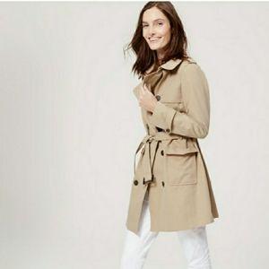 Loft khaki trench coat